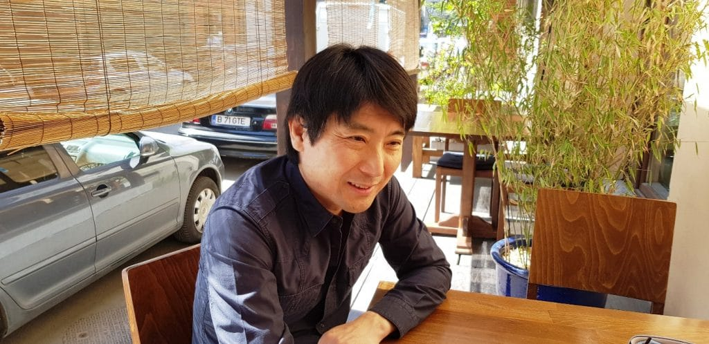 Domnul Yuki, patronul restaurantului japonez Yuki de la Piata Dorobantilor din Bucuresti