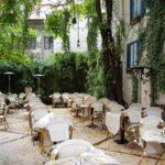Gradina restaurantului italian