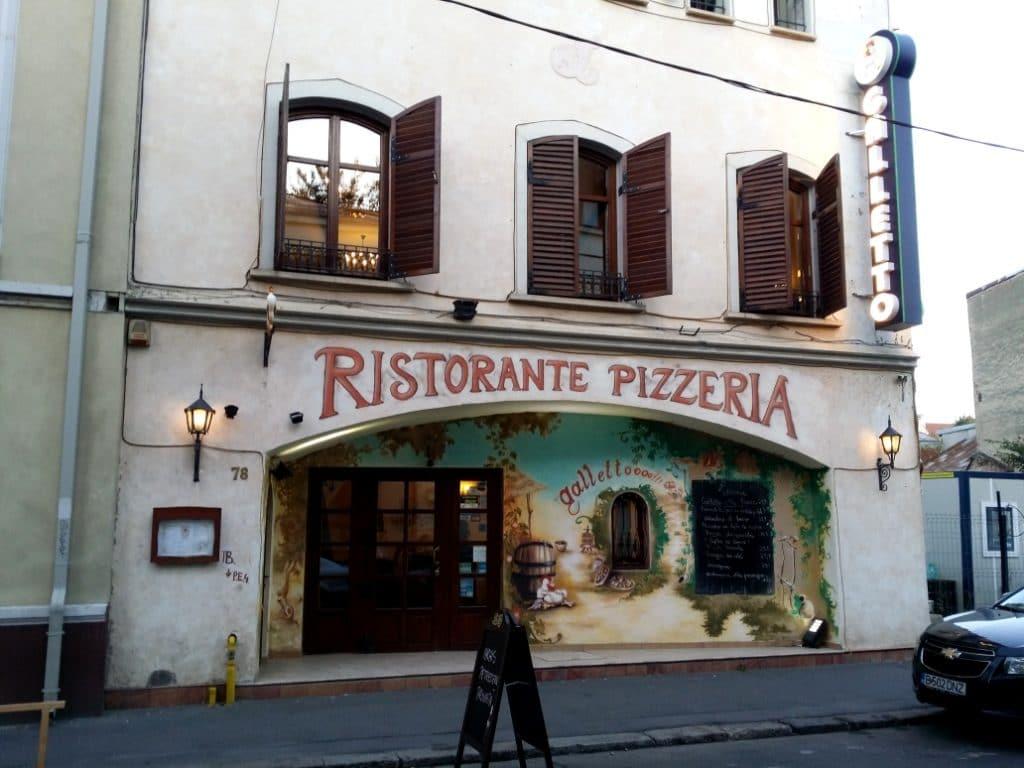 Galletto, restaurant italian traditional si pizzeria pe Caderea Bastiliei