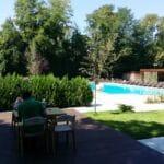 Gradina Floreasca, terasa cu piscina in Parcul Floreasca din Bucuresti