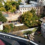 Bucurestiul din Buzesti - Victoriei vazut din restaurantul Upstairs Rooftop