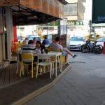 Piata Amzei, cu numeroase restaurante, cafenele si localuri boeme