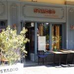 Strada Ion Campineanu cu restaurantul Stadio, restaurant cu atrium