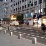 Calea Victoriei din Bucuresti pe la Piata Amzei cu Fabrica de Bere Buna