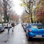 Piata Dorobantilor pe partea cu strada Andrei Muresanu si parculetul