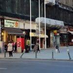 Calea Victoriei in zona Centrului Vechi, in jurul restaurantului Linea Closer to The Moon