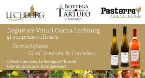 Degustare vinuri Crama Lechburg si surprize culinare
