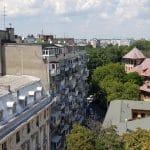 Bucurestiul vazut de pe terasa Cismigiu Bistro, din Hotelul Cismigiu