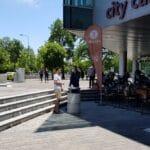 Piata Presei Libere vazuta de la City Cafe si de sus, de la 18 Lounge by The Embassy