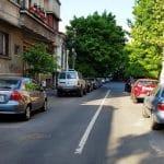 Strada Dumitru racovita din Bucuresti, cu restaurantul Guxt
