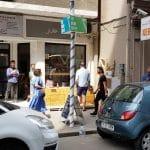 Strada Edgar Quinet din Bucuresti, cu cafenelele Jule, Edgar, libraria Carturesti si altele
