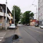 Strada Mihail Eminescu pe la Tunari, cu Trattoria Julya si bistroul Mon Paris