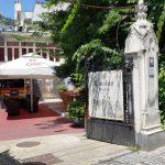 Piata Amzei intre Mendeleev si Christian Tell, cu restaurantul Barrio si Tonka