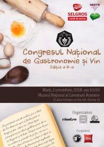 Congresul National de Vin si Gastronomie, editia a II-a, 2018