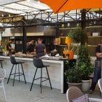 Terasa restaurantului Maize din strada Paris - deschiderea