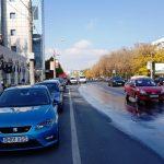 Strada Nicolae Caranfil, cu restaurantul libanez Mandaloun