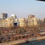 Dambovita la Piata Unirii vazuta de pe Vu's Rooftop Restaurant