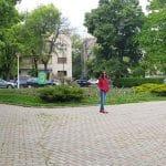 Parcul Floreasca spre Radu Beller, cu restaurantele B4 si Corto Maltese