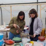 Victoria Finala, atelierul de ceramica de la Gurbanesti