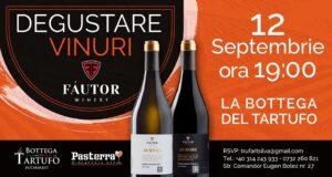 Degustare vinuri Fautor - La Bottega del Tartufo