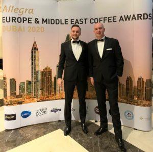 Gala The European Coffee Awards - Radu Savopol si Lucian Badila - co-fondatori 5 to go