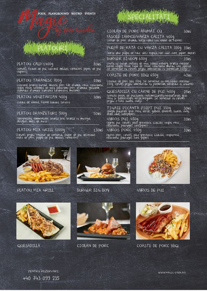 Meniu Magic Bistro by Hop Garden